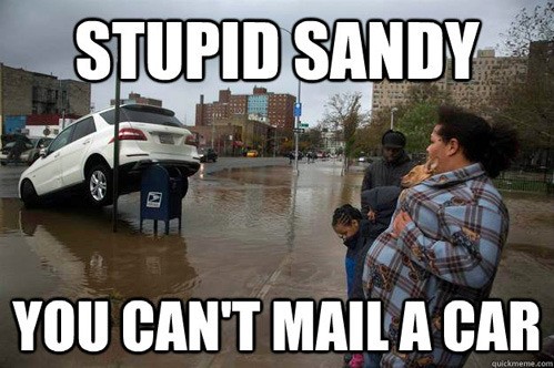 Sandy, you are drunk.
