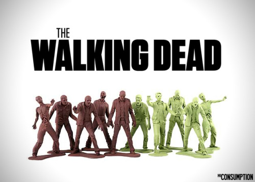 Army Men Inspired From AMC's The Walking Dead |  Awesome idea, I would love to have a battle between the little green army men and zombies.