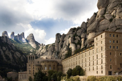Benedictine Abbey of Santa Maria on Montserrat Mountain, Barcelona, Spain | by jaro-es