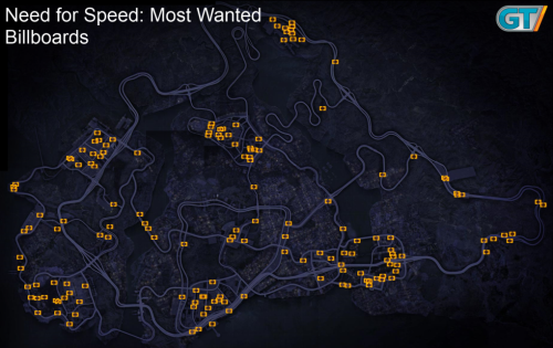 Find all the billboards and speed cameras from Need for Speed: Most Wanted.Thanks to our friends at Wikicheats.