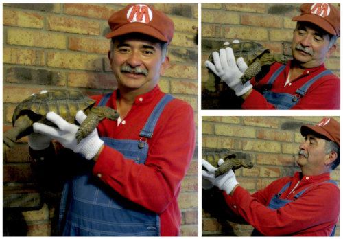 PLAY NICE WITH THE TORTOISE, MARIO. By mindfire3927.