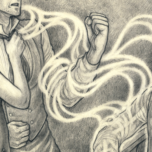 A preview of my piece for the Ghost Book!  Took me waaaaay longer than it should have, but I'm super happy with it.  Can't wait to be able to post the full piece.~