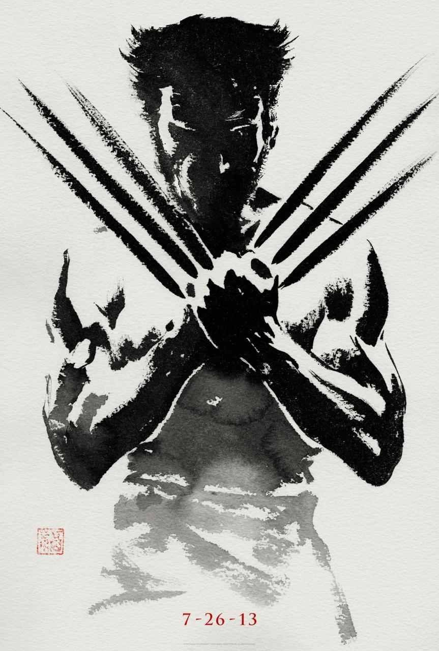 Sweet New One Sheet for The Wolverine Three things to glean from this strikingly minimal poster: 1) Turning Japanese: The film is set in Japan as is illustrated by the calligraphy brush style, complete with the artists stamp. 2) Release Date: Hopefully next summer we'll be forgetting about will.i.am, bad CGI, and the general crumminess of X-Men Origins: Wolverine. 3) Badassery: See: image.