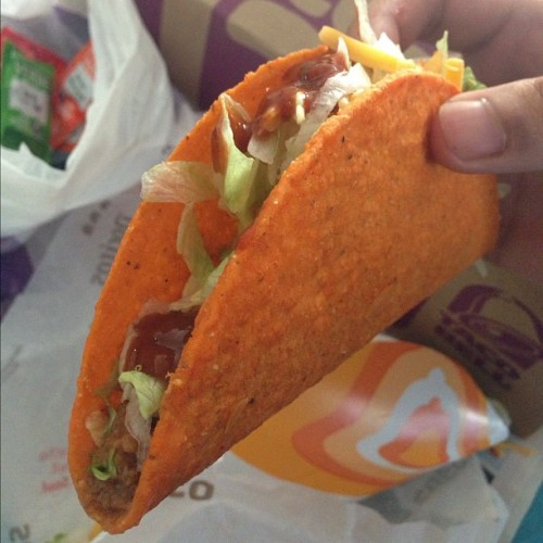 Anyone get their free Doritos Taco yet? #Tacobell #food