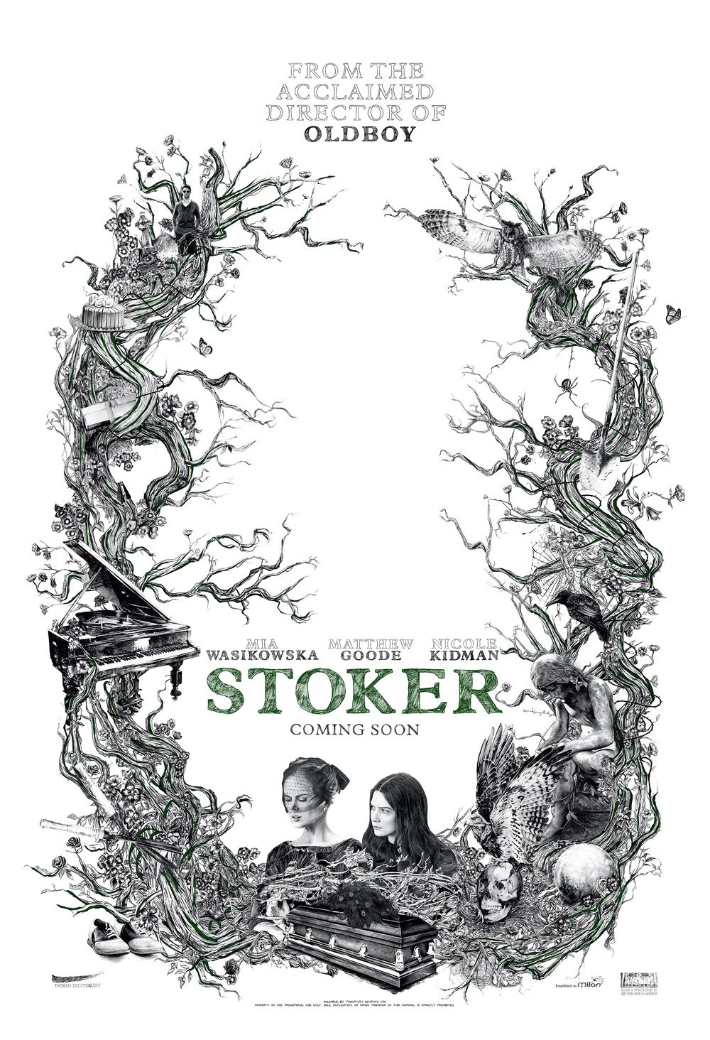 Sketchy Poster for Stoker Despite seeming a bit playful for the tone of Chan-wook Park's new thriller, this one sheet sure is eye-catching.