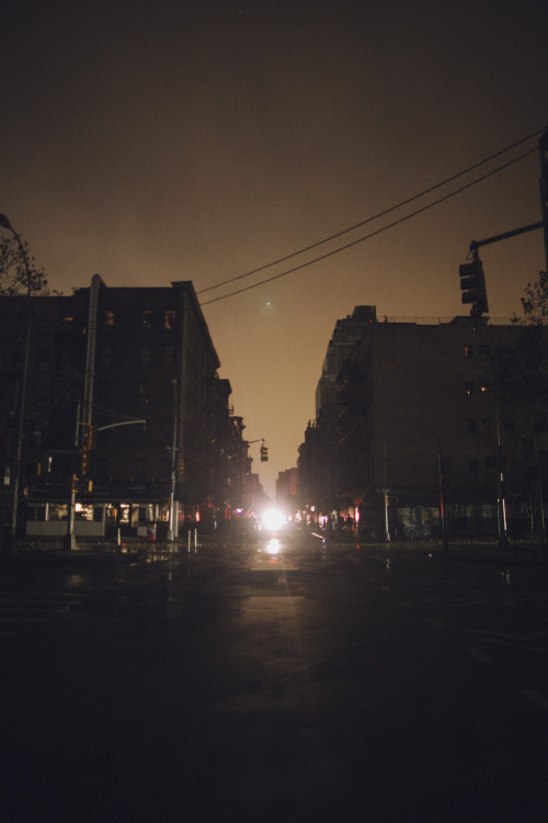 jamesnord:  Sandy kept the sky eerily bright last night, this was 10 minutes after all the power went out.