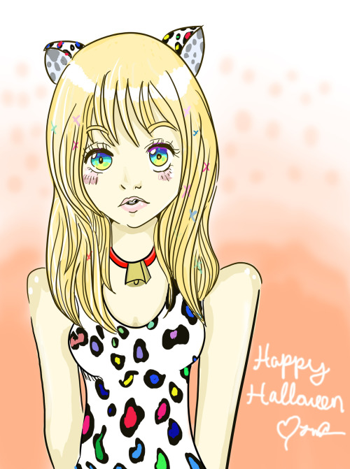 ((ooc: I drew Claire's halloween costume, I don't know what for her to say ic so i'm just going to leave this here so you know a little what she's wearing :3))
