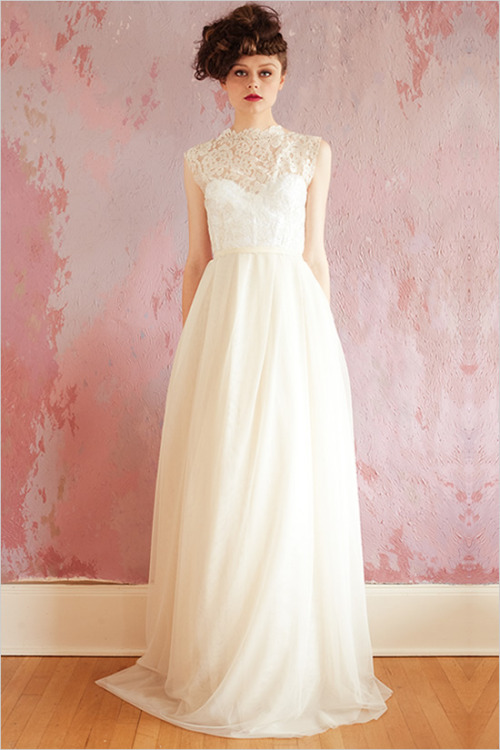 A beautiful wedding gown from the Sarah Seven 2013 collection.