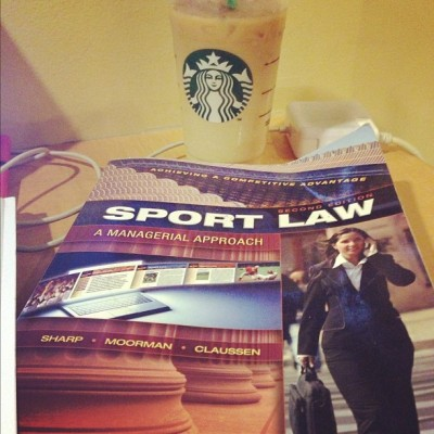 Time to knock some serious stuff out of the way. #starbucks #gradschool #sportslaw