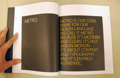 "thisistheverge:  The curious case of Microsoft's Metro, a design language that cannot be spoken Microsoft's Metro design language has gone through a name change of late. Used to describe the company's design principles around typography and minimal graphics, Metro is now referred to as the ""Microsoft design language.""   More companies should put focus on systems of design like this. Simply put, these are the new highways and mass-transit systems, and we need to treat them that way."