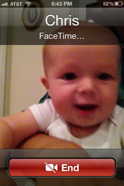 we've been doing a lot of FaceTime. stay by your phones.