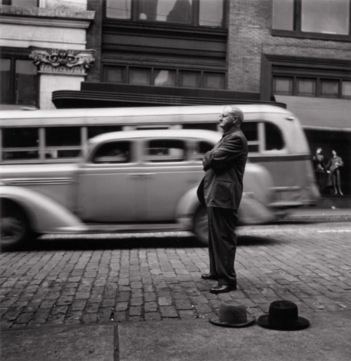 Evangelist at Corner of Smithfield and Diamond Streets, 1950 Elliott Erwitt