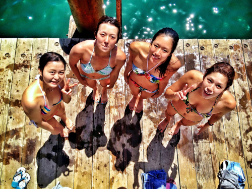 Jetty jumping with the girls