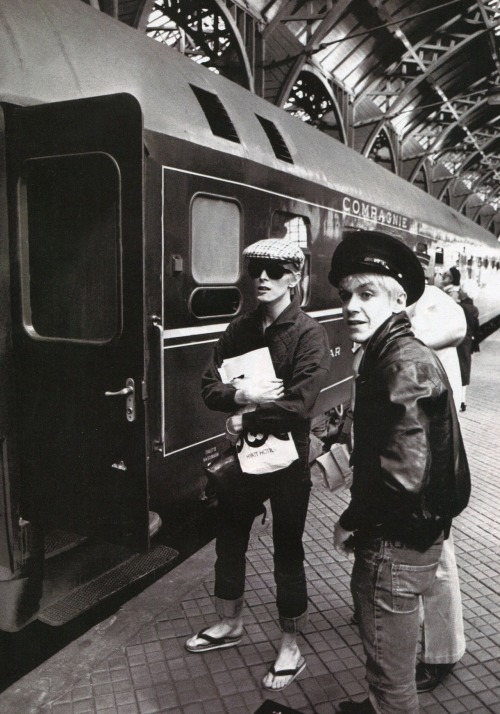 superblackmarket:   David Bowie and Iggy Pop in Copenhagen, 1976