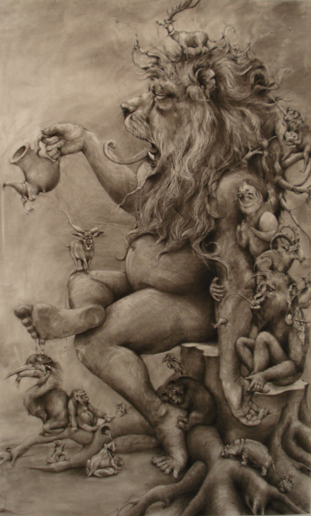 Large Lion by Adonna Khare