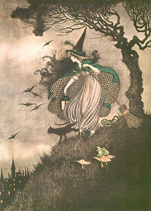 suicideblonde:  Witch (1916) by Ida Rentoul Outhwaite