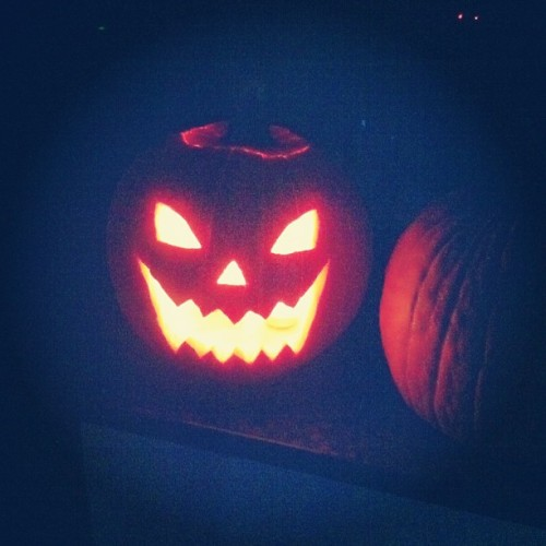 The pumpkin @edwin_hallan and I carved! (at Jesse Shaw's House)