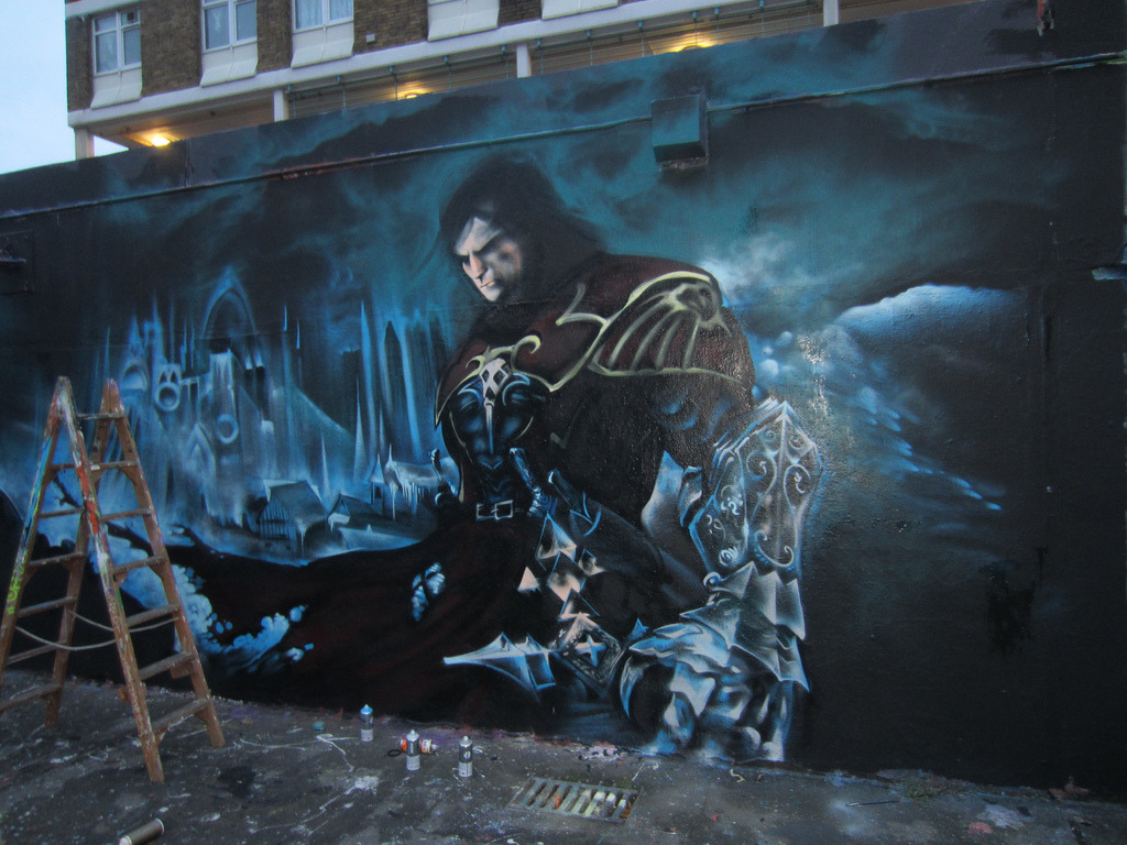 Daily Graffiti: Whip it good! Castlevania mural by Probs. Check out the Daily Graffiti Archives for more geektastic street art! Add your geeky graffiti pics to our Group Pool on Flickr!