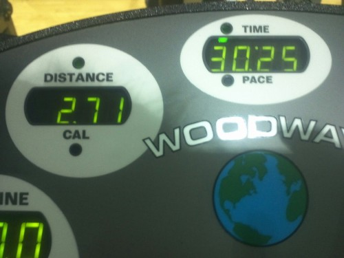 Easy run… getting sick sucks  2.71 miles in 30 mins Abs, plank