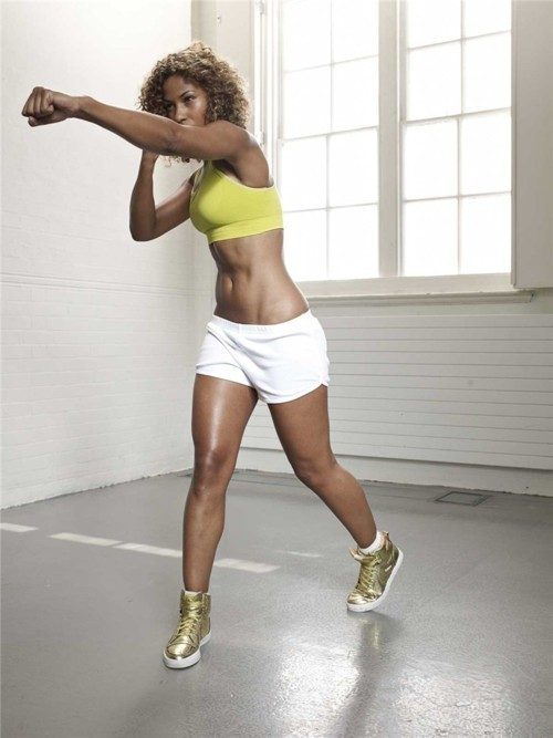 jlsfitness:  gymbooty:  I love my left jab.  More women should pick up boxing, just sayin'.