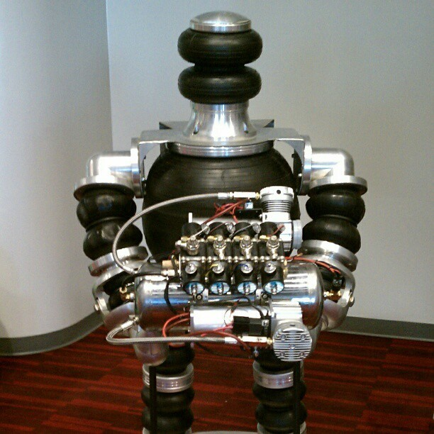 This robot wants to bag your ride! #semashow #SEMA #sema2012 therevvolution, instagr.am  omgahhhhh