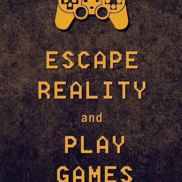 Escape reality and play games #gaming #gamer #videogames #controller #escape #reality #play #games