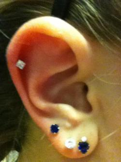 GOT MY CARTILAGE PIERCED! :D