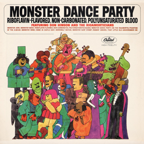 "Don Hinson and The Rigormorticians ""Monster Dance Party"" LP - Capitol Records, US (1965)."