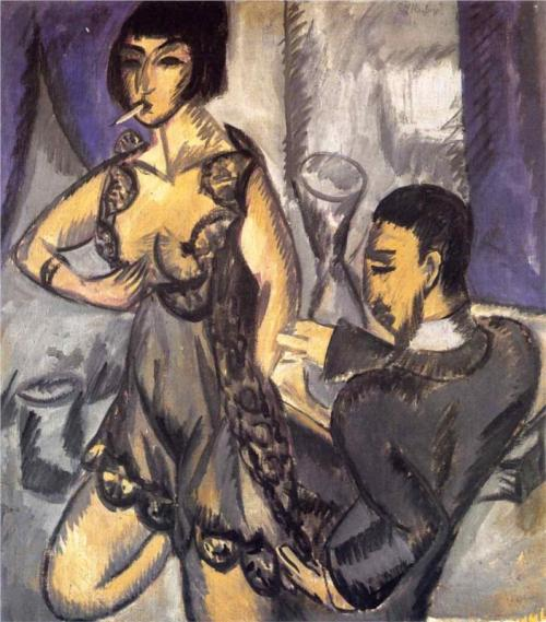 Ernst Ludwig Kirchner, Couple in a Room, 1912.