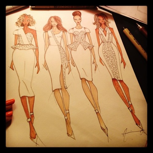 What should I color them?? #fashion #illustration #croquis #prismacolor