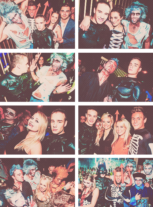 Liam Payne and his friends partying at Funky Buddha