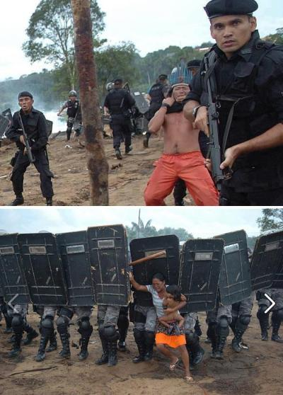djehutiarts:  politics-war:  The Kayapo being expelled from their homes for the construction of the Belo Monte Dam, which will flood 400.000 acres of the Amazon Rainforest in Brazil.  Heartbreaking…