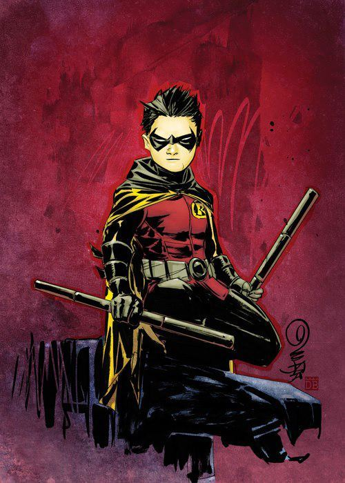 tychokepler:  roze-lopez:  Dustin Nguyen's Damian is featured in the upcoming DC Comics The New 52 Trading Cards from Cryptozoic Entertainment.  ♥ Damian!  wait hold the fucking phone they're making a new tcg? Edit: Nope, just collectible art cards…. cool enough but i'm jonesing for a new TCG