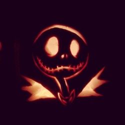 My pumpkin I carved this year. #happy #halloween