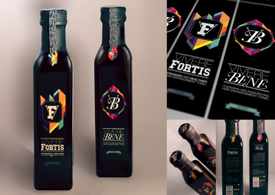 Vivere Fortis & Vivere Bene packaging designs by Mel Muraca