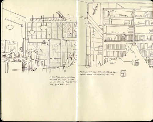 Sketchbook page from Portland by abysmalred