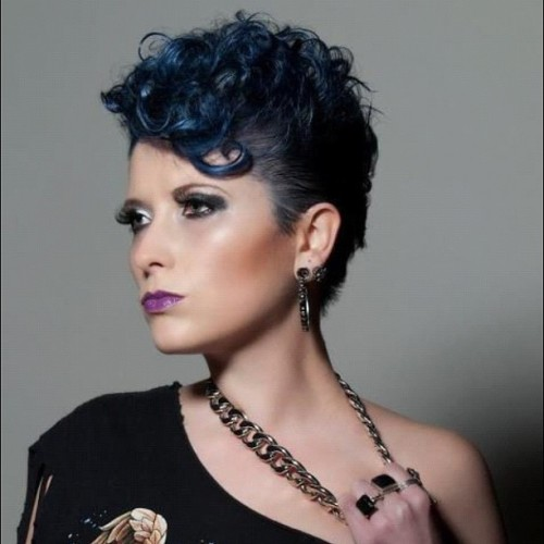 That time I was a hair model #hair #blue #bluehair #makeup #model