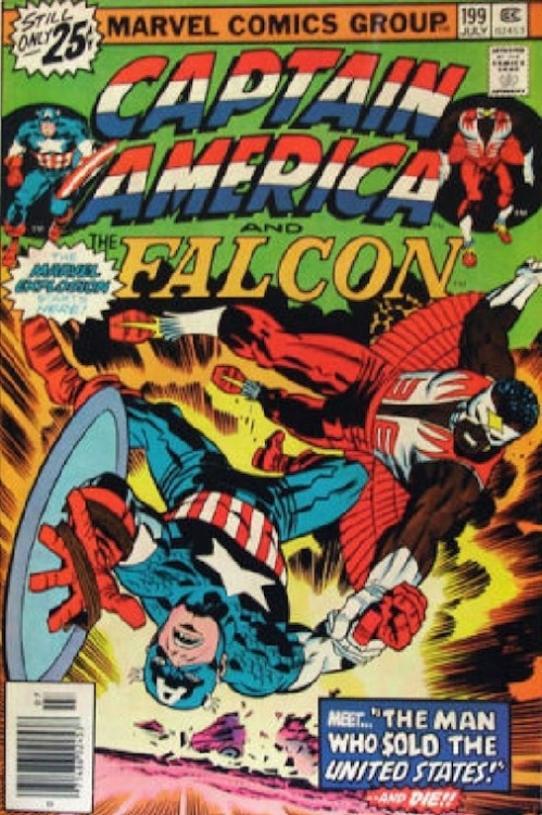 Captain American + Falcon, #199 July 1976, Cover by Jack Kirby
