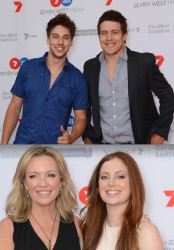 CHANNEL 7'S 2013 PROGRAM LAUNCH - LINCOLN YOUNES & STEVE PEACOCKE (HOME & AWAY) AND REBECCA GIBNEY & HANNAH MARSHALL (PACKED TO THE RAFTERS) To launch its line up of 2013 shows, Channel 7 hosted drinks last week at Sydney's Luna Park. Some of the network's hottest stars attended the event, including your fave 'Home & Away' and 'Packed To The Rafters' actors. Here are the hot shots for YOUR viewing pleasure! Image Source: AAP Newswire