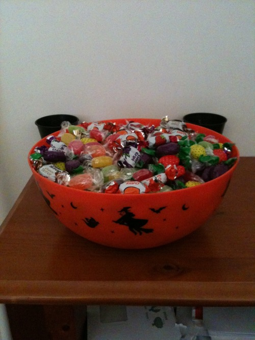 Waiting for Trick or Treaters as we speak! I've had a couple of groups come through already, which is pretty cool considering it's Australia and Halloween isn't that big here. It gets bigger every year which is nice! :D
