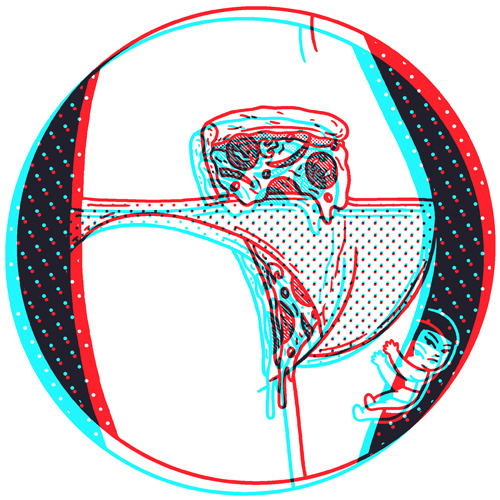 ofp:  P is for Pizza 3 / Anaglyph by Kimiaki Yaegashi