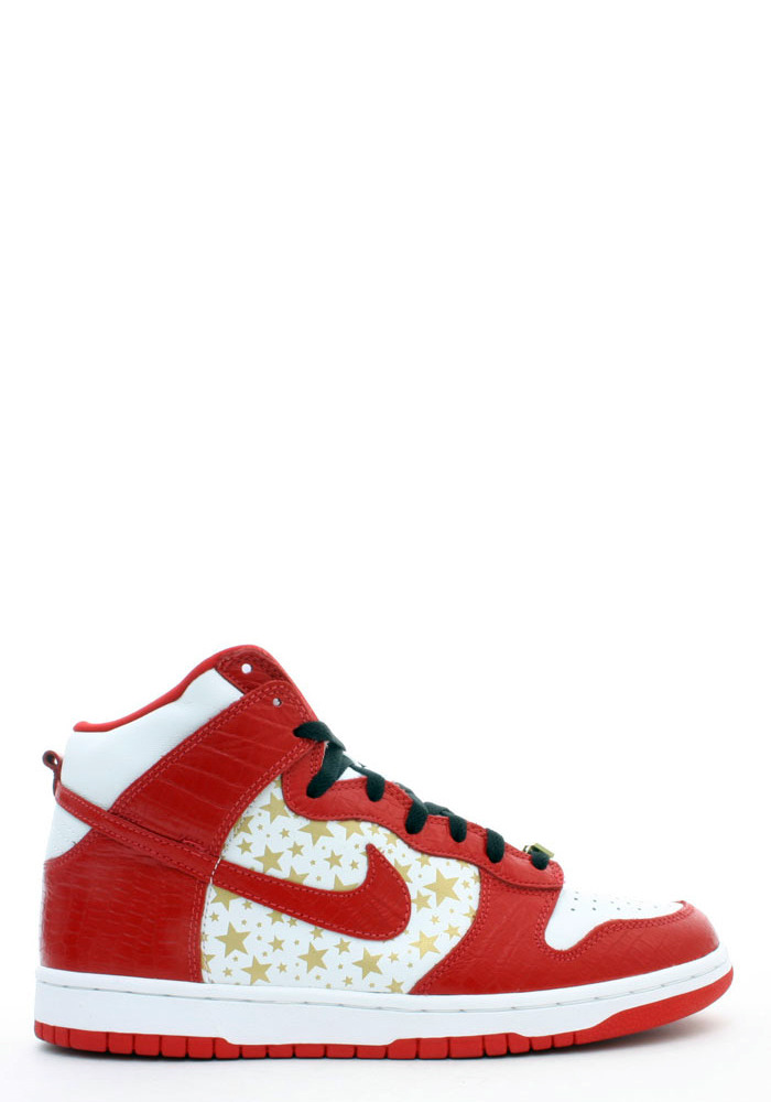 "NIKE SB red ""Supreme"" dunk high"