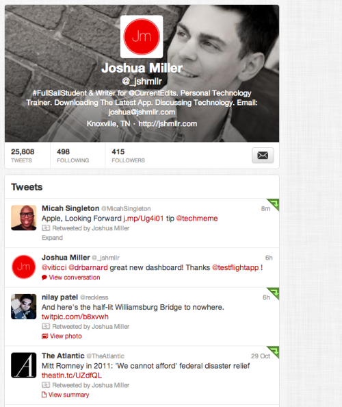 Updated my Twitter profile in accordance with their new header initiative.