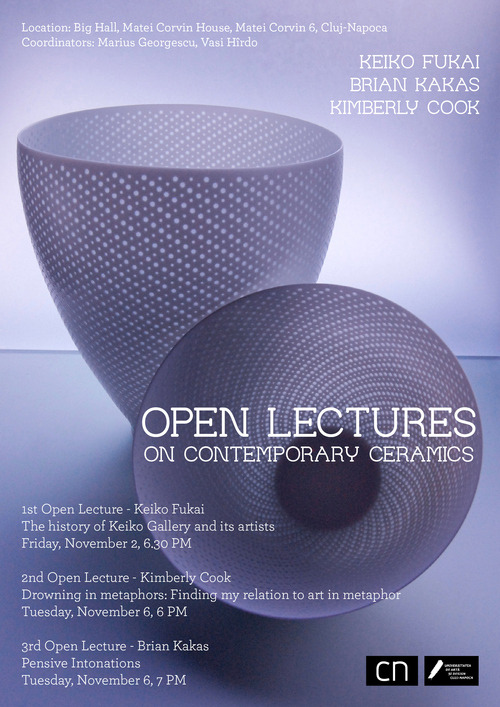 Open lectures on contemporary ceramics organized by Ceramics Now Association, Keiko Fukai, Brian Kakas, Kimberly Cook