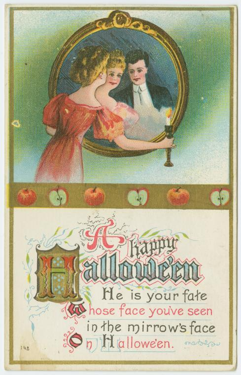 Great Horror Movie Plot. Halloween postcards via The Public Domain Review.