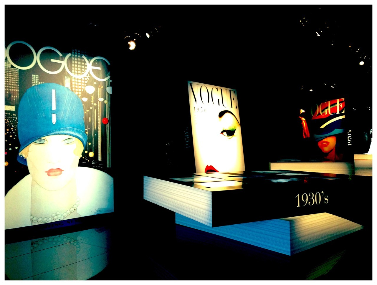 120 years of Vogue and 7 years of Vogue China Exhibition  Designed by Alexandre de Betak  Opened last night in Beijing  The exhibition space
