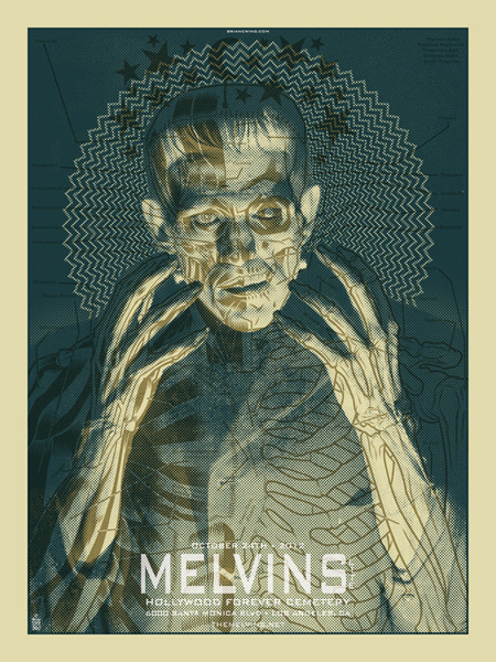 Happy Halloween (part 1)! Recent Melvins Lite concert poster.