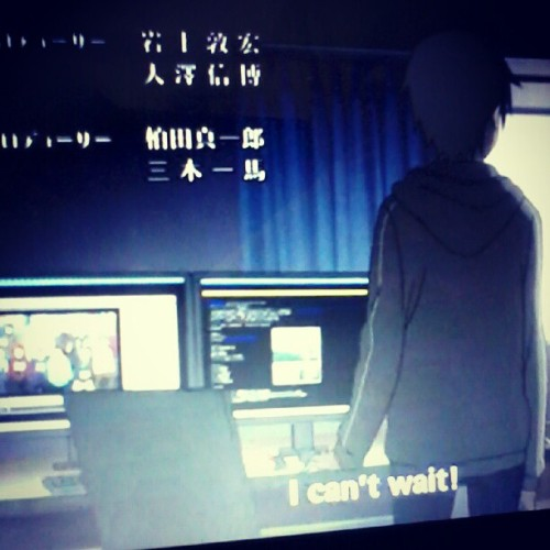 watching #swordartonline with @cathy_imperial ! #anime #instagram #instapic