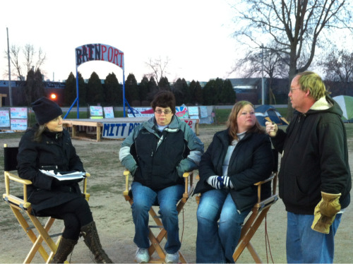 #Sensata workers live with @democracynow at #Bainport #O31