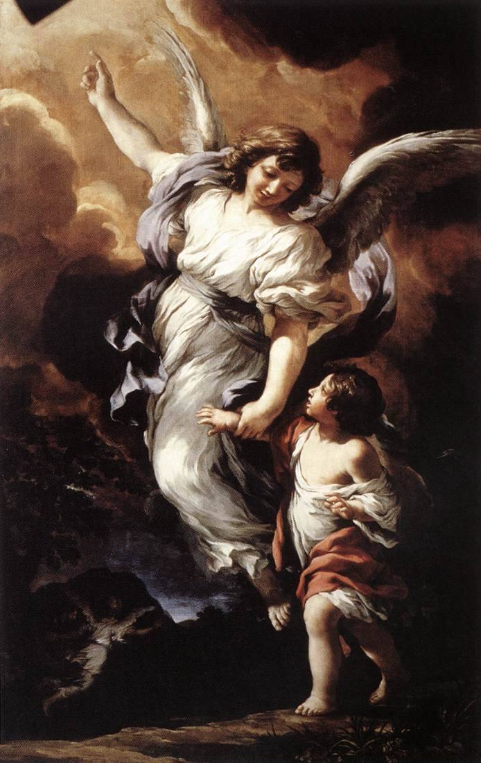 Guardian angel (1656), oil on canvas | artwork by Pietro da Cortona